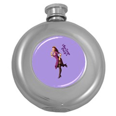 Pin Up 3 Hip Flask (Round)