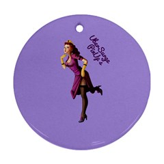 Pin Up 3 Twin Sided Ceramic Ornament (round)