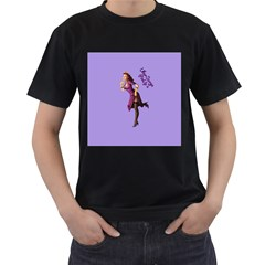 Pin Up 3 Black Mens'' T-shirt