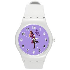 Pin Up 3 Round Plastic Sport Watch Medium