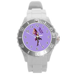 Pin Up 3 Round Plastic Sport Watch Large