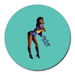 Pin Up 2 8  Mouse Pad (Round)