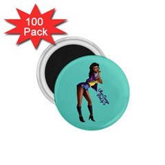 Pin Up 2 100 Pack Small Magnet (Round)