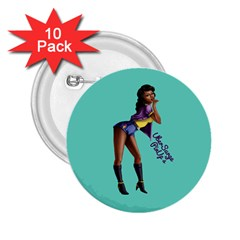 Pin Up 2 10 Pack Regular Button (Round)