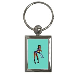 Pin Up 2 Key Chain (Rectangle)