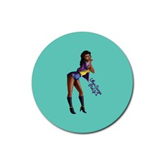 Pin Up 2 4 Pack Rubber Drinks Coaster (Round)