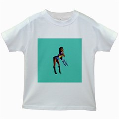 Pin Up 2 White Kids'' T Shirt
