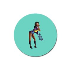 Pin Up 2 Large Sticker Magnet (Round)