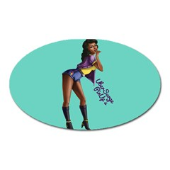 Pin Up 2 Large Sticker Magnet (Oval)