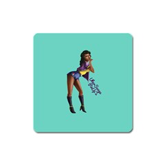Pin Up 2 Large Sticker Magnet (Square)