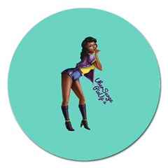 Pin Up 2 Extra Large Sticker Magnet (Round)