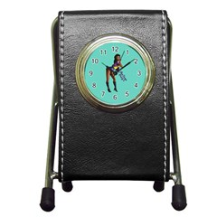 Pin Up 2 Stationery Holder Clock