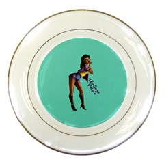 Pin Up 2 Porcelain Display Plate