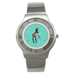 Pin Up 2 Stainless Steel Watch (Round)
