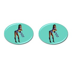 Pin Up 2 Oval Cuff Links