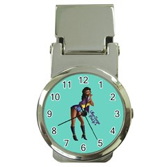 Pin Up 2 Chrome Money Clip With Watch
