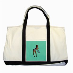 Pin Up 2 Two Toned Tote Bag