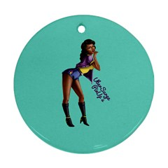 Pin Up 2 Twin-sided Ceramic Ornament (Round)