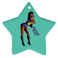 Pin Up 2 Twin-sided Ceramic Ornament (Star)