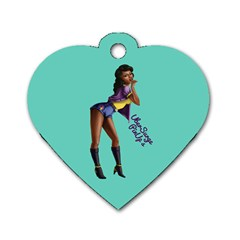 Pin Up 2 Single-sided Dog Tag (Heart)