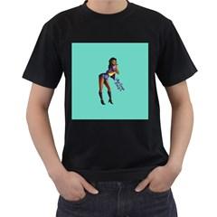 Pin Up 2 Black Mens'' T-shirt