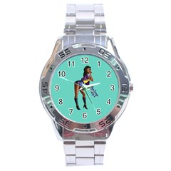 Pin Up 2 Stainless Steel Analogue Watch (round)