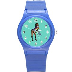 Pin Up 2 Round Plastic Sport Watch Small