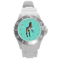 Pin Up 2 Round Plastic Sport Watch Large