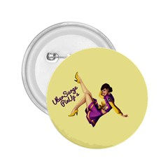 Pin Up Girl 1 2.25  Button