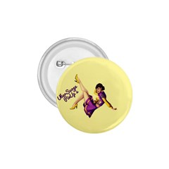 Pin Up Girl 1 1.75  Button