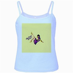 Pin Up Girl 1 Baby Blue Spaghetti Tank