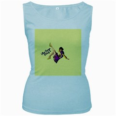 Pin Up Girl 1 Women s Baby Blue Tank Top