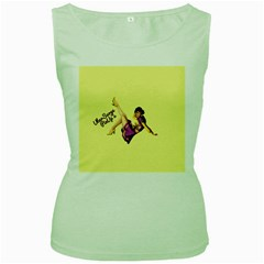 Pin Up Girl 1 Women s Green Tank Top