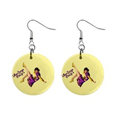 Pin Up Girl 1 1  Button Earrings