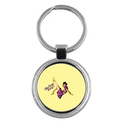 Pin Up Girl 1 Key Chain (Round)