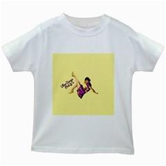 Pin Up Girl 1 Kids White T Shirt