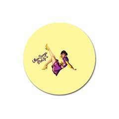 Pin Up Girl 1 Magnet 3  (round)