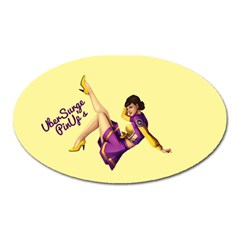 Pin Up Girl 1 Magnet (oval)