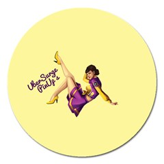 Pin Up Girl 1 Magnet 5  (Round)