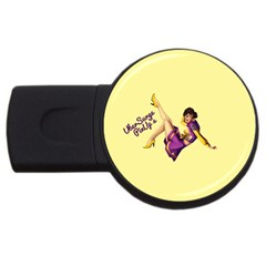 Pin Up Girl 1 USB Flash Drive Round (1 GB)
