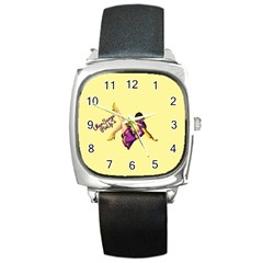 Pin Up Girl 1 Square Metal Watch