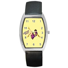 Pin Up Girl 1 Barrel Style Metal Watch