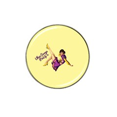 Pin Up Girl 1 Hat Clip Ball Marker (4 pack)