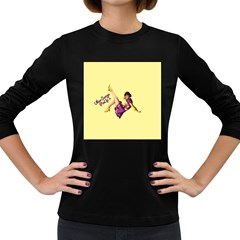 Pin Up Girl 1 Women s Long Sleeve Dark T Shirt