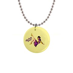 Pin Up Girl 1 1  Button Necklace