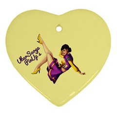 Pin Up Girl 1 Heart Ornament (two Sides)