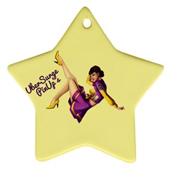 Pin Up Girl 1 Star Ornament (Two Sides)