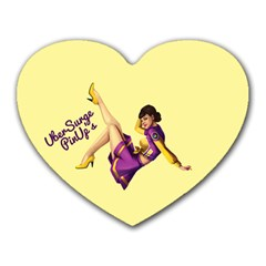 Pin Up Girl 1 Mousepad (Heart)