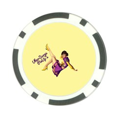 Pin Up Girl 1 Poker Chip Card Guard