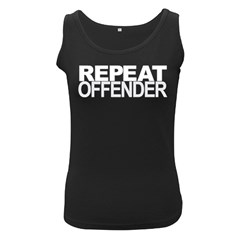 Repeat Offender Black Womens'' Tank Top